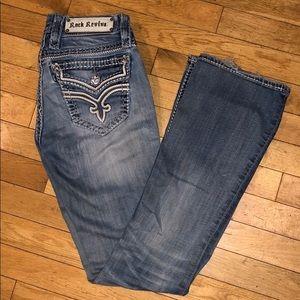 Rick revival bootcut jean pants bottoms